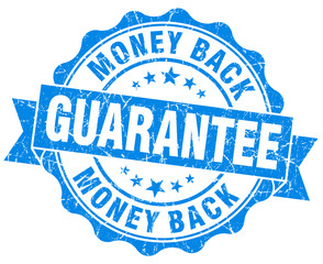 money back guarantee grunge blue seal