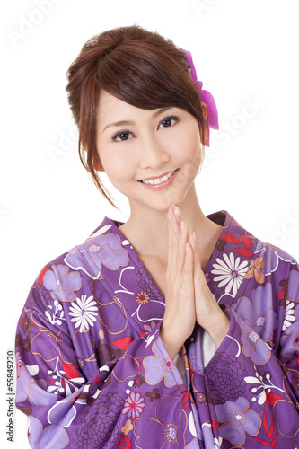 Japaneses woman praying