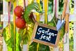 canvas print picture - Einladung zum Gartenfest
