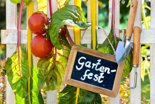 canvas print picture Einladung zum Gartenfest