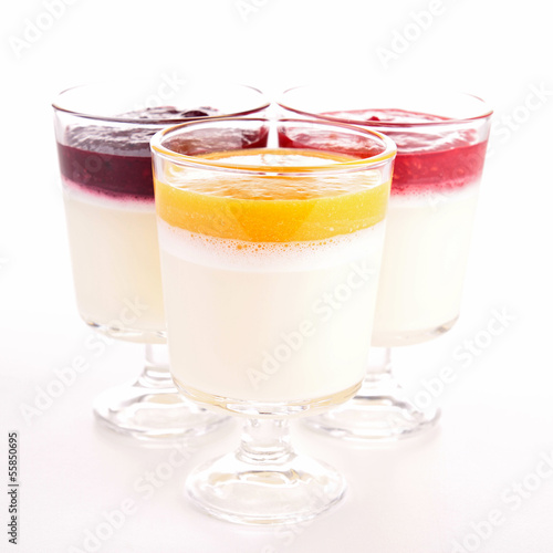 assorted of pannacotta