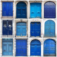 portoni blu collage