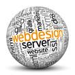 Kugel, Webdesign, Design, Wörter, Textur, TagCloud, beschriftet