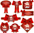 Christmas and Happy New year labels with Santa Claus