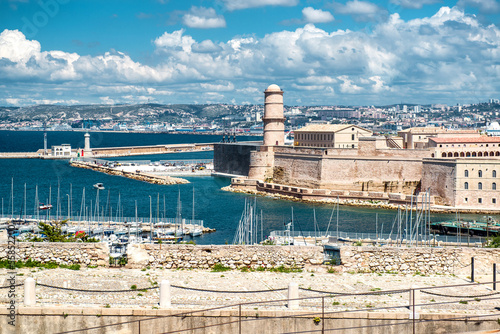 View of Fort Saint Nicholas in Marseille, France
