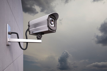 CCTV Camera with clouds