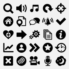 Games and web icons set