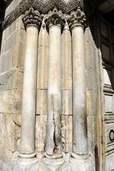 Holy Sepulchre Church columns, Jerusalem.