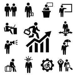 business persons icons