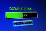 Downloading propaganda poster