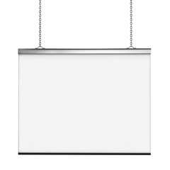 White board isolated over white