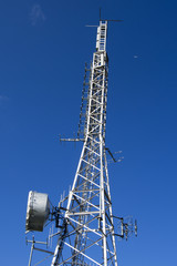 Telecommunication Tower on Blue Sky