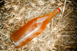 Bottle of delicious natural homemade nectar