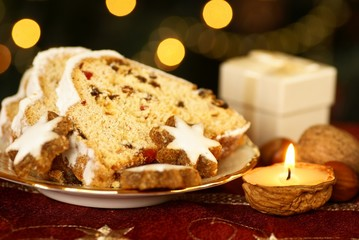 Christmas stollen and cookies