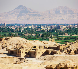 View of the Luxor from the temple of Queen Hatshepsut