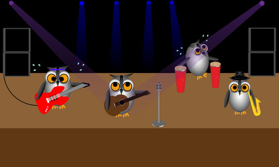Rock Band of Owls