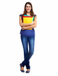 Standing student woman.