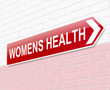 Womens health sign.