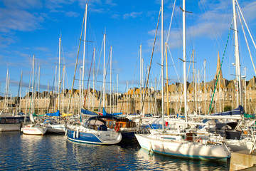 harbour of  Saint Malo, France
