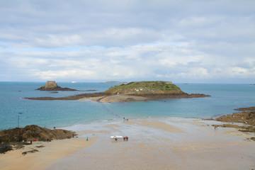 tidal islands, Saint Malo, Brittany, France