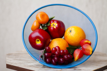 Weintrauben mit Orangen