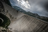 Kaprun dam wall-the highest power plant in Austria