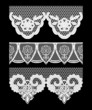 Lace seamless borders. Set of elements for design.