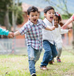 Group of kids running