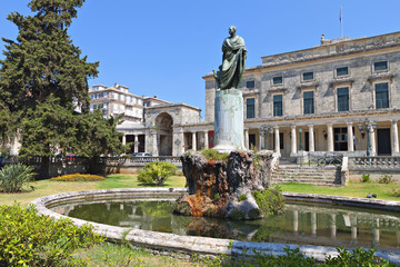 The British palace at Corfu island in Greece