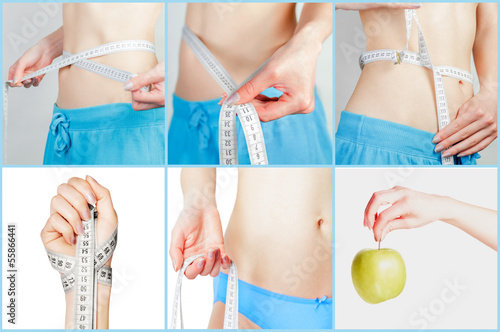 The composition of measuring waist