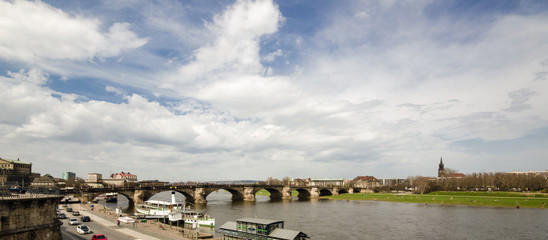 view of the river Elbe in Dresden