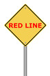 Warning Sign Red Line