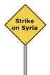 Warning Sign Strike on Syria