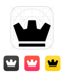 Crown icons. Vector illustration.