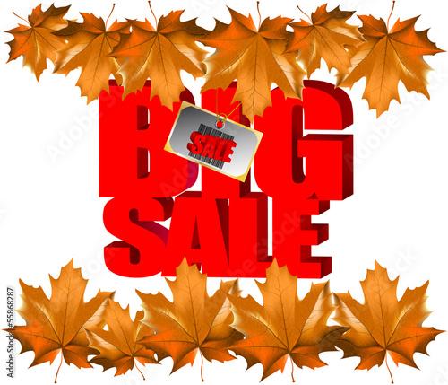 autumn leaves sale bar code barcode vector illustration