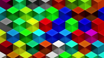 Colorful Cubes Seamless Loop
