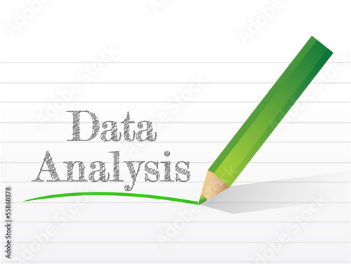 data analysis message written
