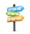 options road sign illustration design
