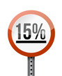 15 percentage road sign illustration design