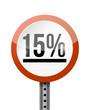 15 percentage road sign illustration design
