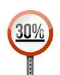 30 percentage road sign illustration design