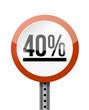 40 percentage road sign illustration design