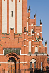 Church of the Holy family, neo-Gothic 20th century. Kaliningrad