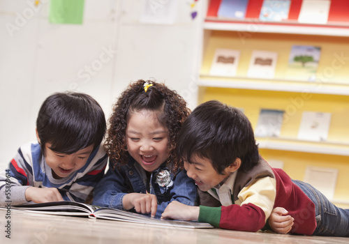 Three Students Reading