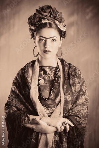 woman retro