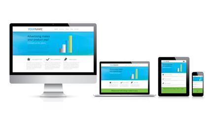Modern responsive web design concept