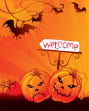 Halloween welcome card