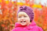 baby girl in fall