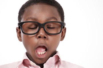 Yawning kid