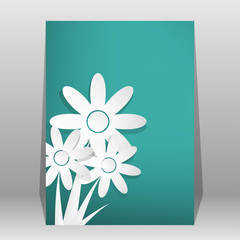 Vector Flower shop brochure, flyer, magazine cover & poster temp
